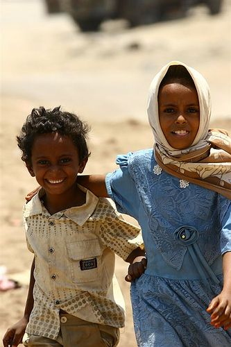 Brother And Sister Yemen Beautiful Children Child Smile Beauty Around The World