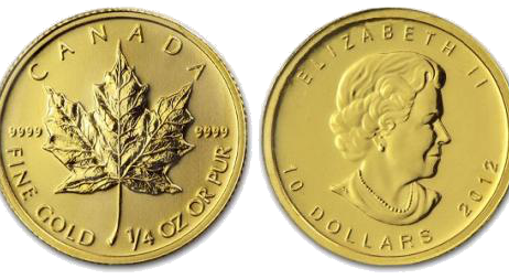 1 10 Ounce Maple Leaf Gold Coin 999 9 1000 Fine Gold Highest Purity Face Value 5 Canadian Dollar Troy Weight 1 10 Unze Maple Leaf Gold Gold Coins Gold