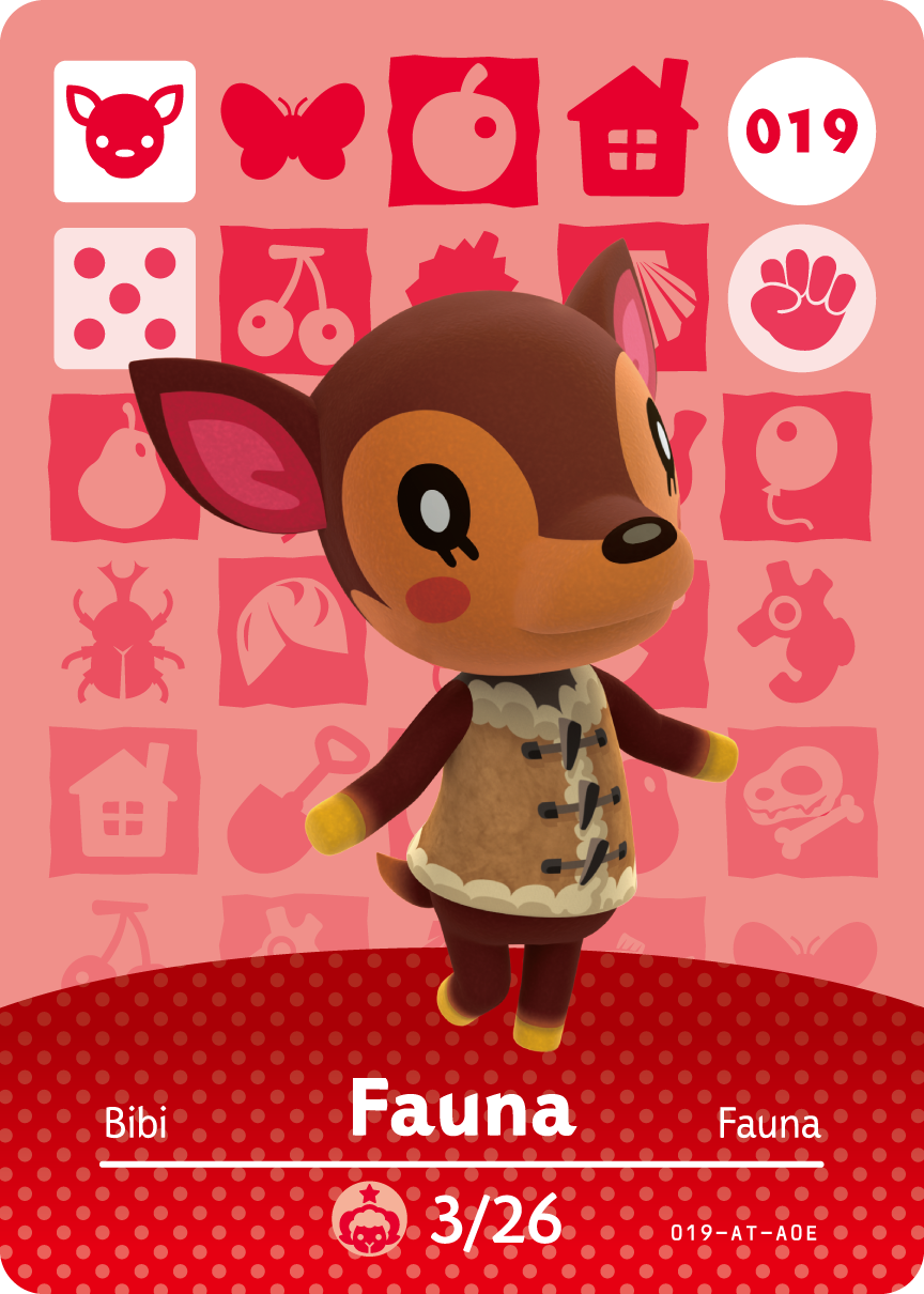 Amiibo Card Animalcrossing 19 Fauna Png 864 1210 Animal Crossing Amiibo Cards Animal Crossing Animal Crossing Villagers