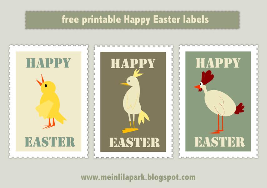free printable Happy Easter tags AND scrap stamp pngs – ausdruckbare Oster Sticker – freebie | MeinLilaPark – digital freebies