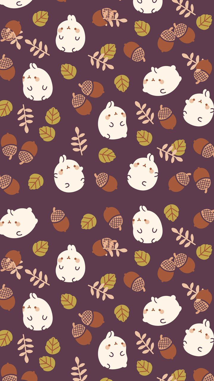 Autumn molang background Милые рисунки, Обои, Обои для