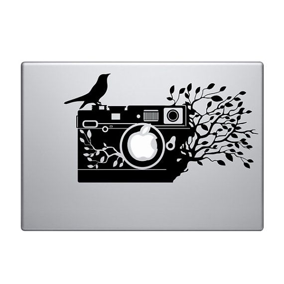 Vintage camera vinyl decal sticker to fit macbook pro 13 15 17