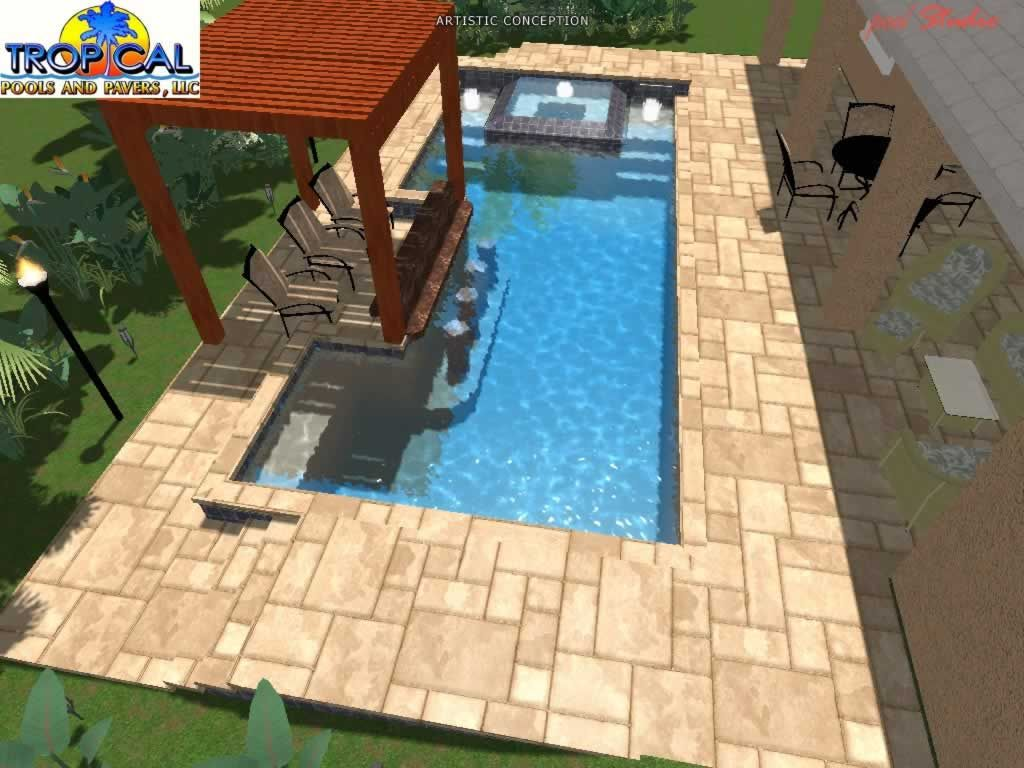 Tropical Pools And Pavers Professional Pool Design