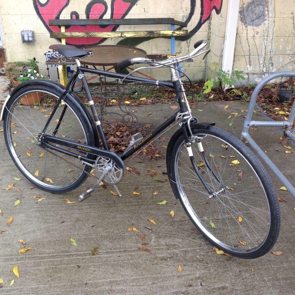 Raleigh English Rod Brake Roadster Bicycle Men 039 S Xl 60 Cm Sturmey Archer 3 Speed Ebay Vintage Bikes Bicycle Bike Bicycle