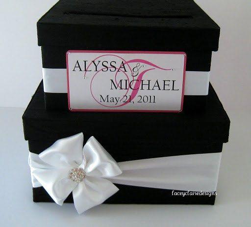 wedding card box money holder gift card box bridal shower card box ...