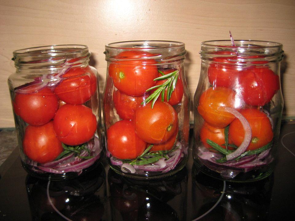 Würztomaten oder eingelegte, frische Party - Tomaten