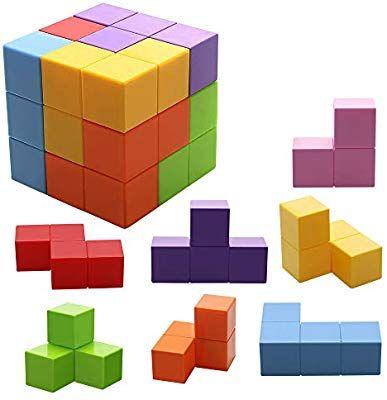 10X Lernspielzeug Holz Geometrie Form Frühkindliche Ausbildung Kinder Spielzeug Spielzeug