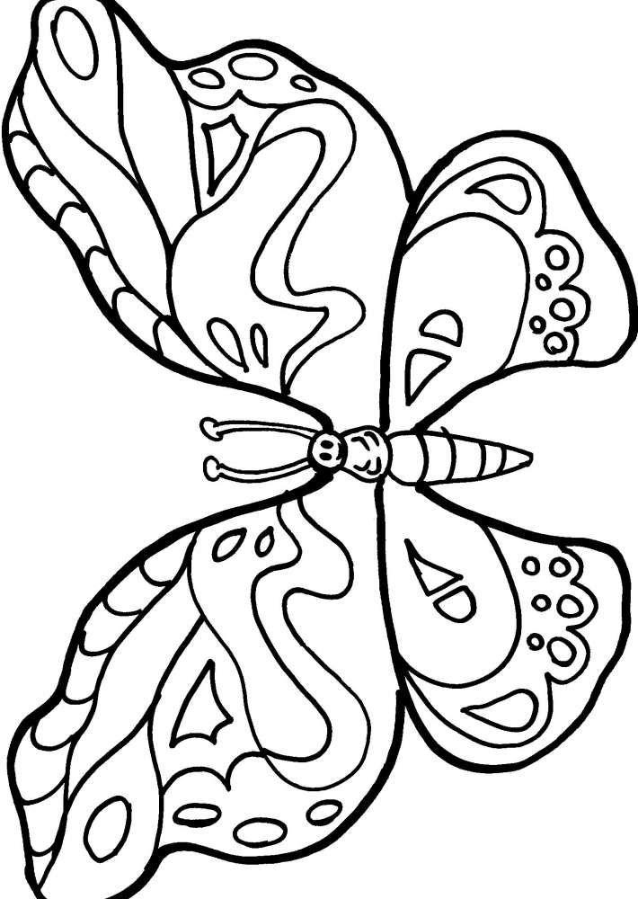 Farfalla da colorare disegno farfalla da colorare for Immagini farfalle da ritagliare