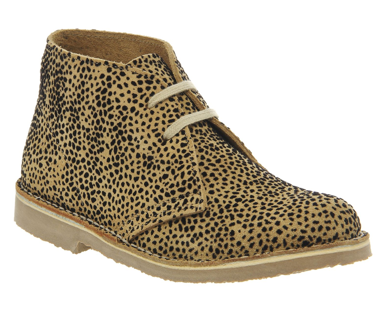 Office Uphill Desert Boot Leopard Flocked Suede Ankle Boots