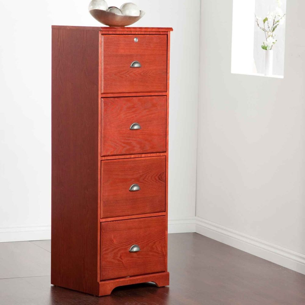 Wood Filing Cabinet 4 Drawer