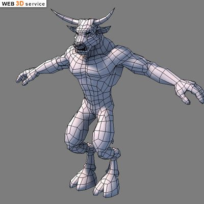 low poly minotaur 3d model wip 3d art work in progress 3d pinterest low poly 3d and. Black Bedroom Furniture Sets. Home Design Ideas