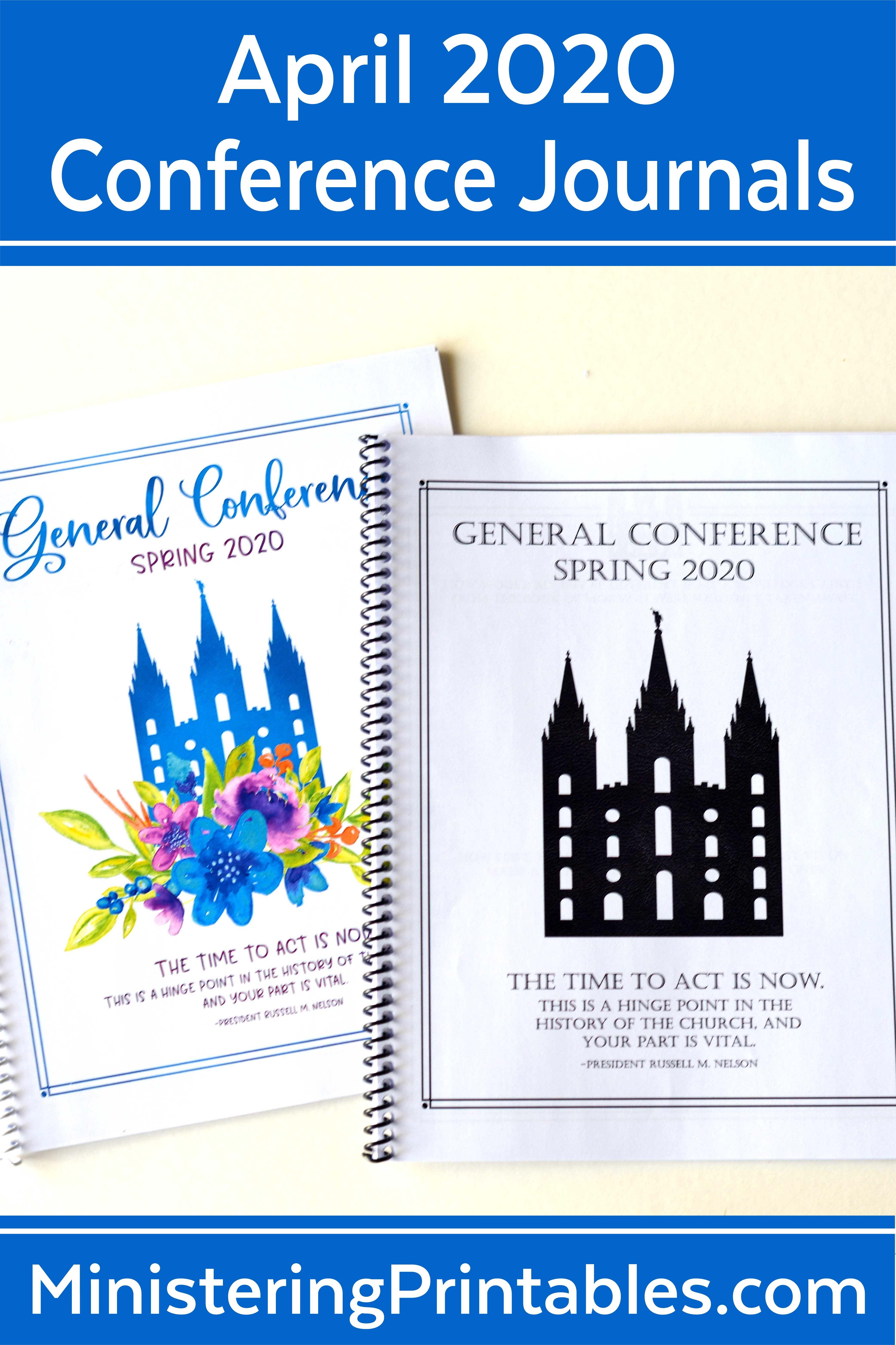April 2020 General Conference Journals In 2020 General Conference Lds General Conference General Conference Activities