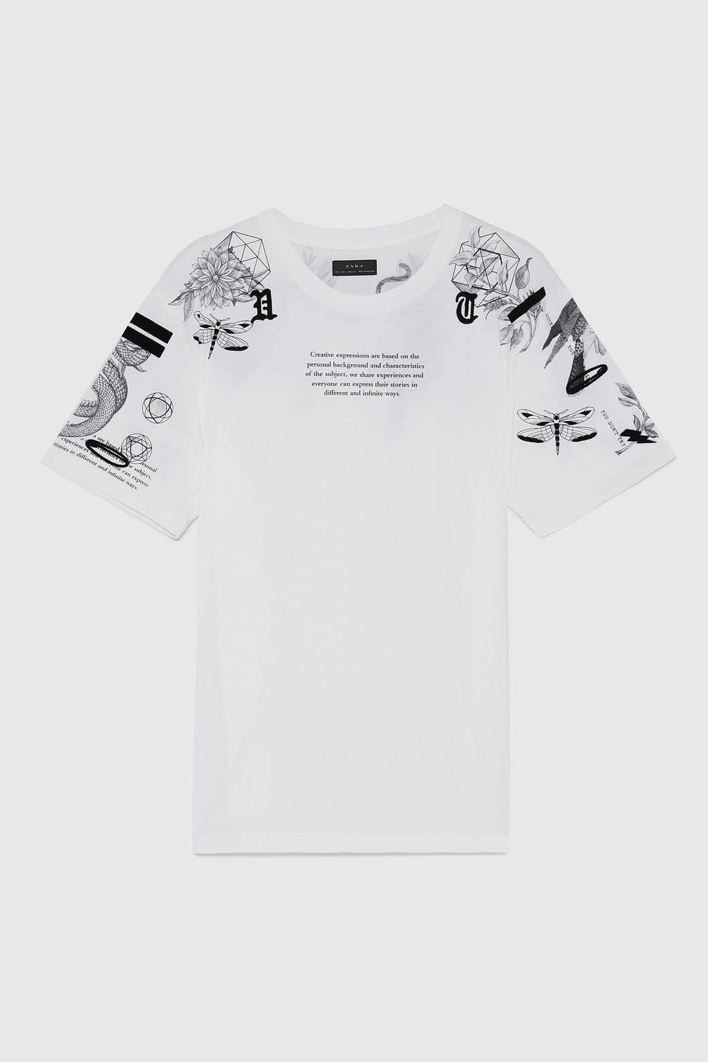 Image 6 Of Printed T Shirt From Zara Hemd Druck T Shirt