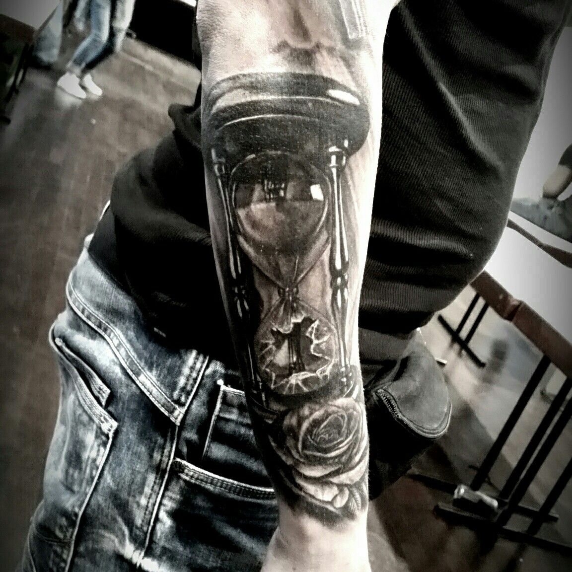 Broken hourglass tattoo by patbull tattoo convention