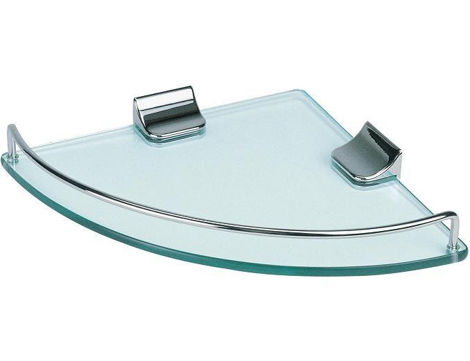 LADA KK9001 Corner Glass Shower Shelf With Edge Rail