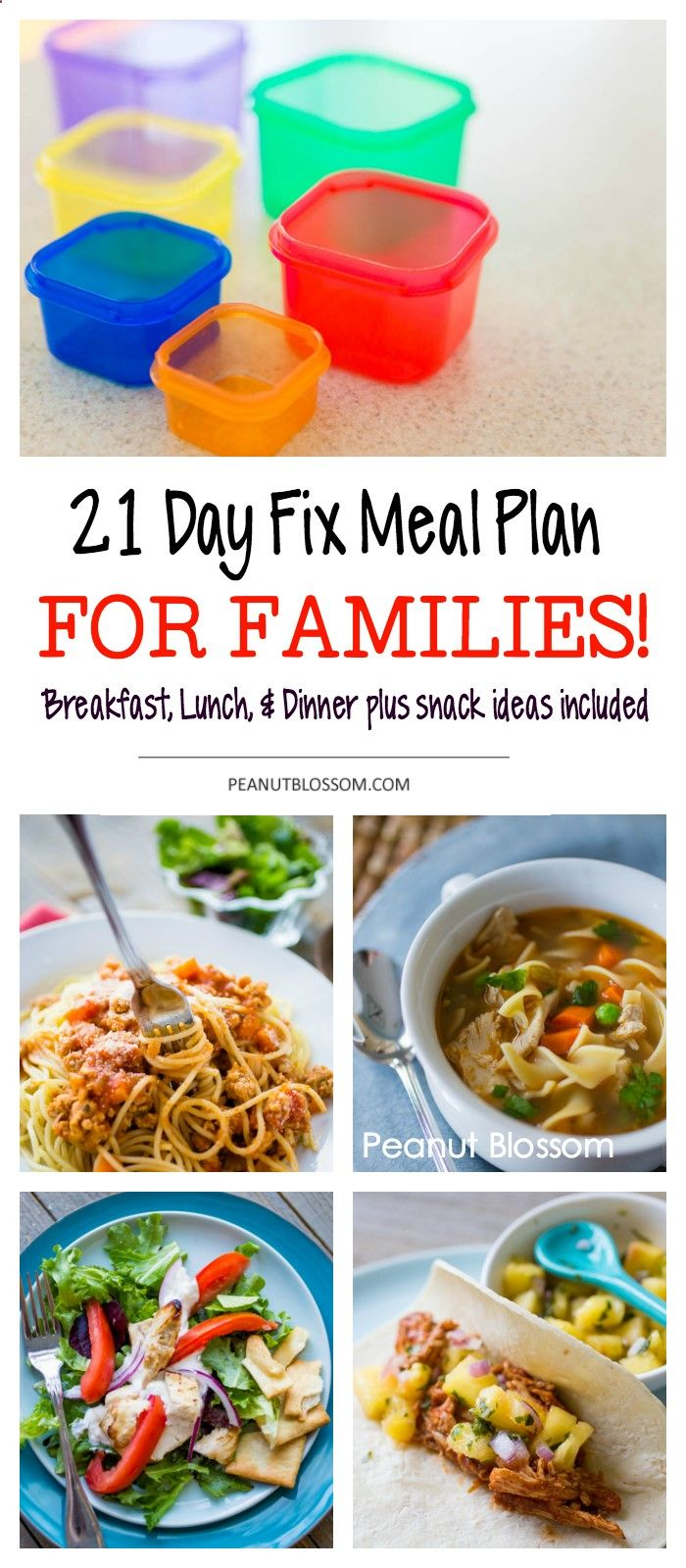 how to create a 21 day fix meal plan for the whole family. cook once