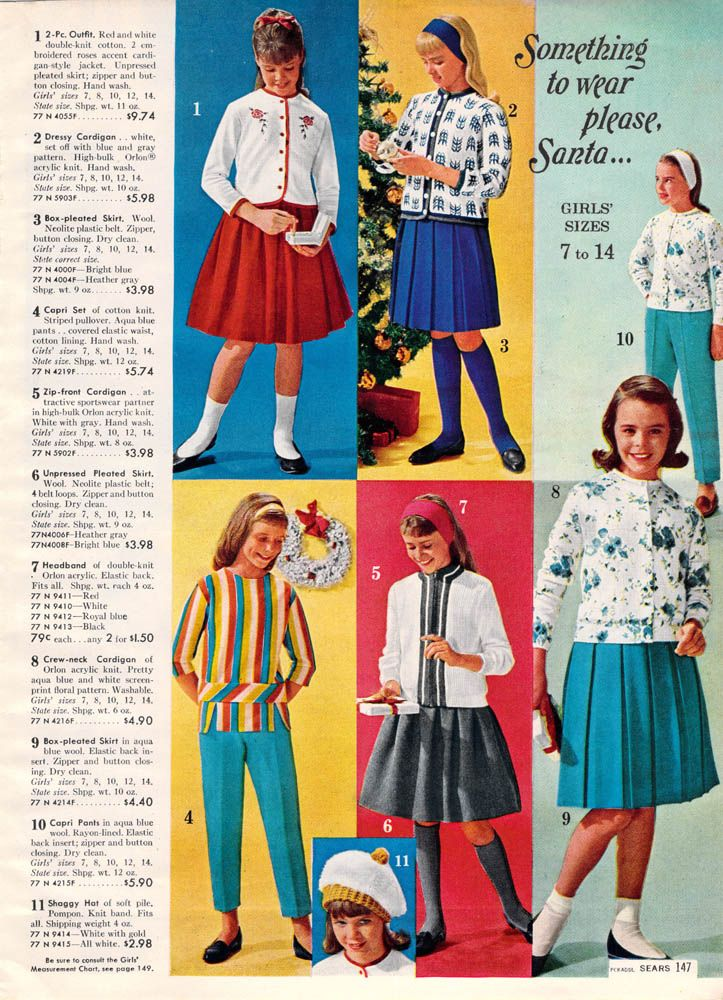 00109d32b 1962 Christmas/winter fashions - exactly what I wore in 1962 - I was 9  years old then.
