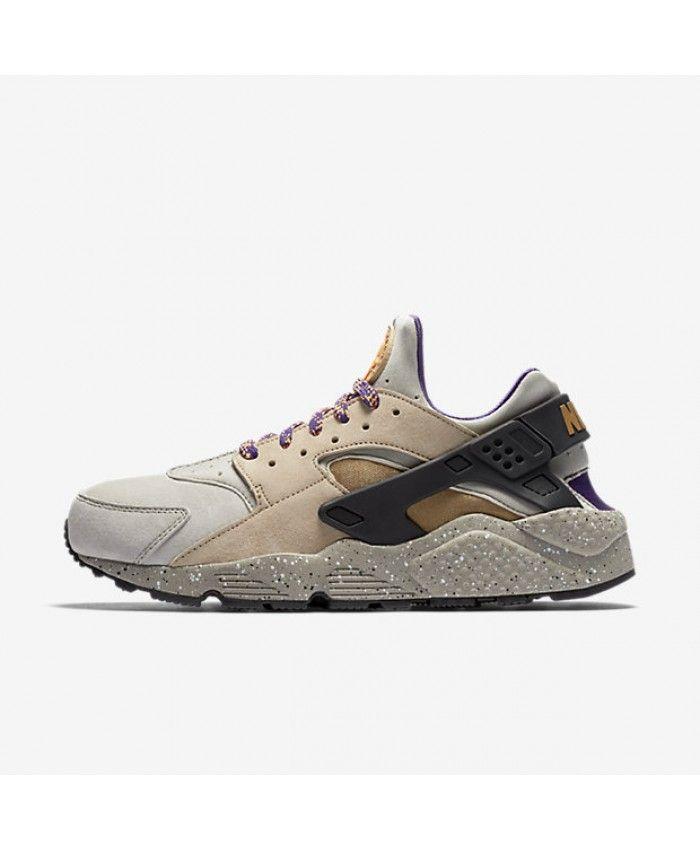 online store fdc63 0f846 Nike Air Huarache Premium Linen Black Court Purple Golden Beige 704830-200