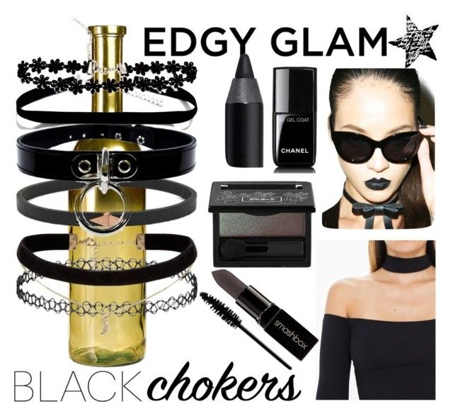 """Black Chokers"" by istyled ❤ liked on Polyvore featuring Pols Potten, Cheap Monday, Chanel, Kat Von D, Urban Decay, Smashbox, MAC Cosmetics, Beauty, black and jewelry"