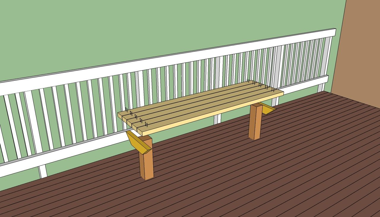 Diy bar plans howtospecialist how to build step by step diy plans - This Diy Steb By Step Article Is About Deck Bench Plans Free We Show You How To Build A Deck Bench With Back Or A Simple Seating By Using Wooden Boards