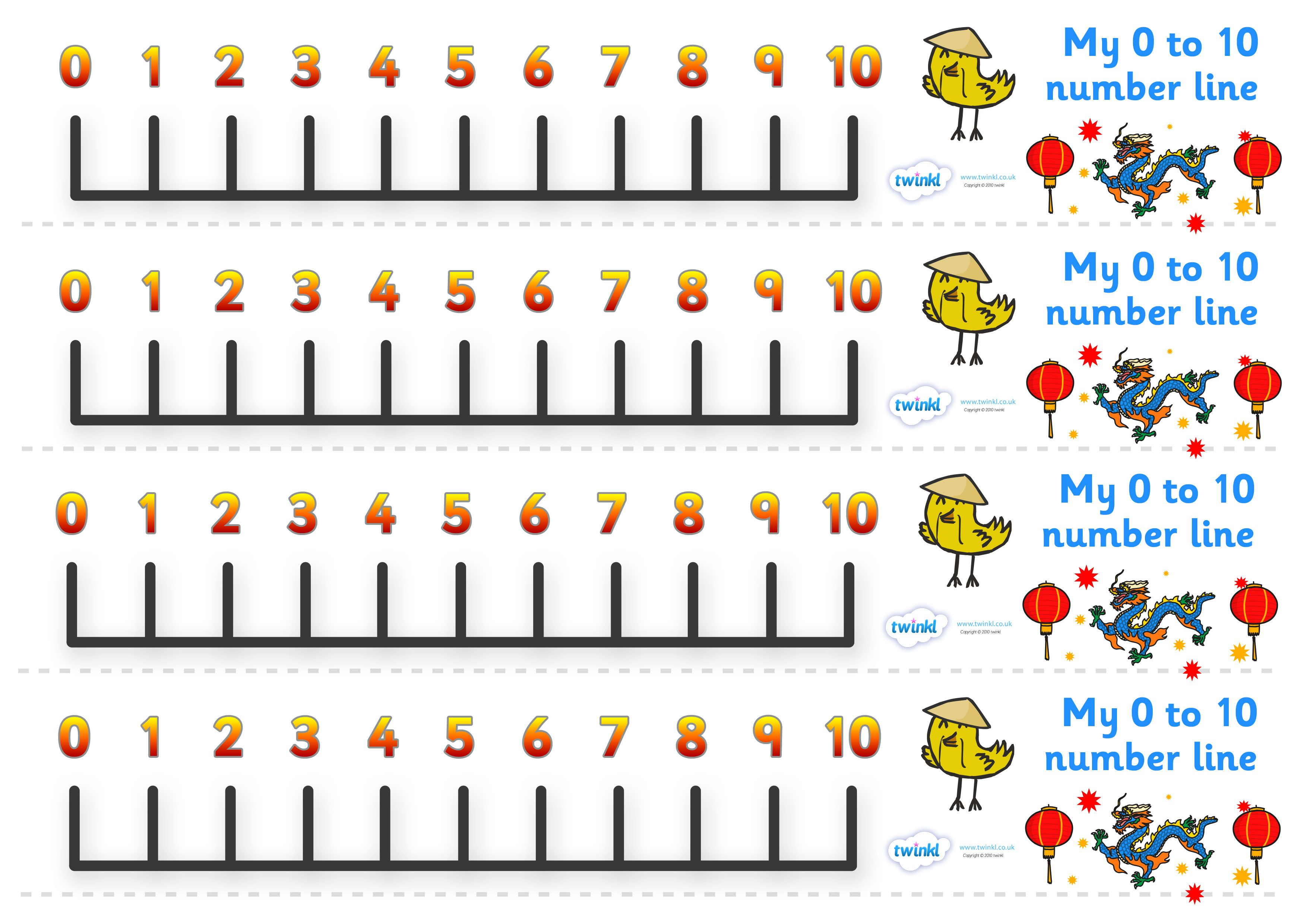 Chinese New Year Number Line 0 10