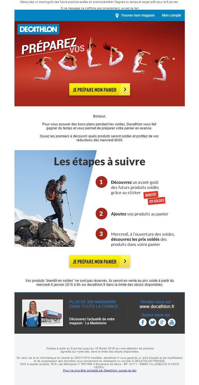 Email Design Inspiration Notre Veille De Janvier 2016 Decathlon Inspiration Premiers Sons