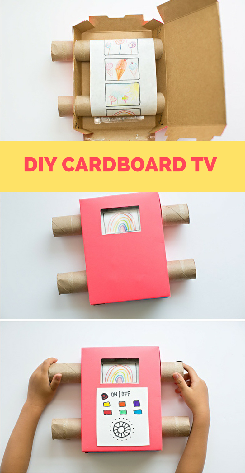 DIY Recycled Cardboard TV. Show off your kids art with this fun ...