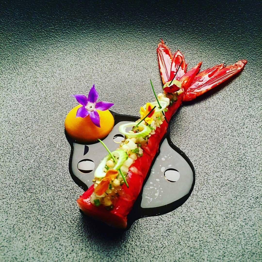 "By @janhartwig_atelier ""Carabiniero ""Thai Style"" carrot, chives, Green pepper & pineapple..."" #foodphotography #f52grams #food #foodporn #gourmet #instagramfood #chef #foodart #lovefood #artofplating #instafood #yummy #foodpic #photooftheday #instagourmet #dinner #foodvsco #dessert #delicious #taste #foodartchefs #eat #gastronomy #love #foodie #cook #cooking #foodgasm #culinaryart"