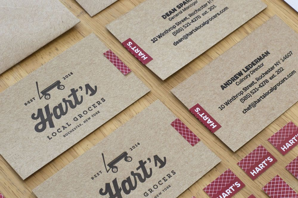 Hart\'s Local Grocers - Business Cards Letterpress, Rubber Stamp and ...