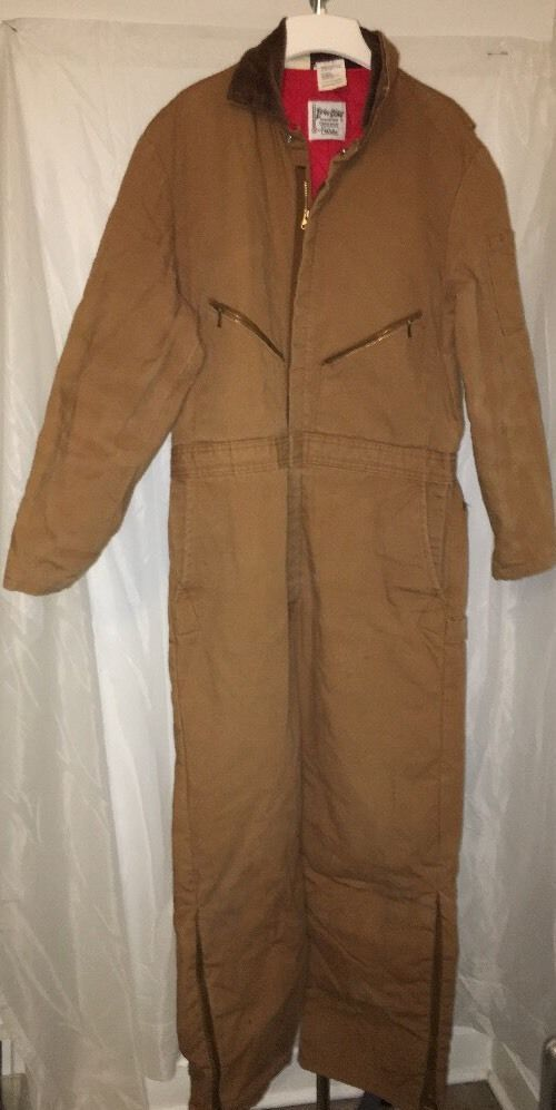 Walls Zero Zone Lined Insulated Work Coveralls Outerwear Size L 42