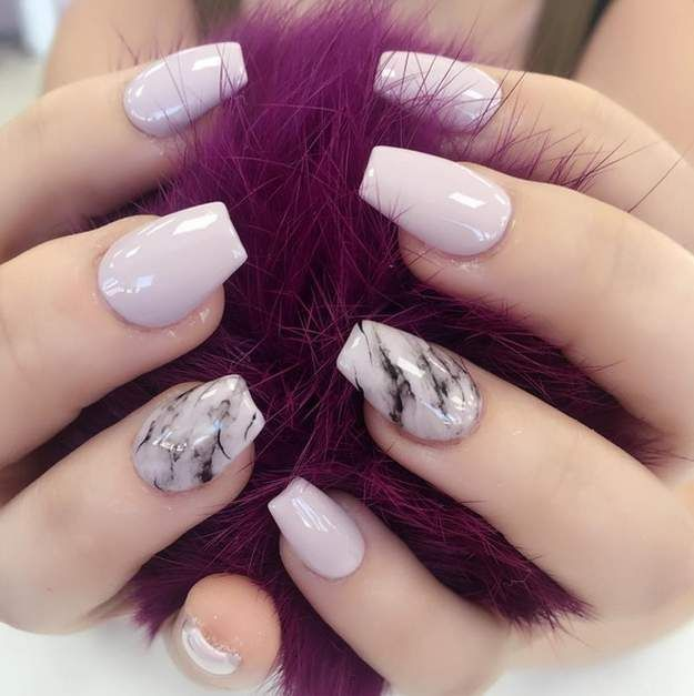 Marbled Nude Nails Nailed It Be Exceptional With Your Back To