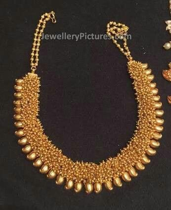 Kerala Design Gold Necklace Jewellery Pinterest