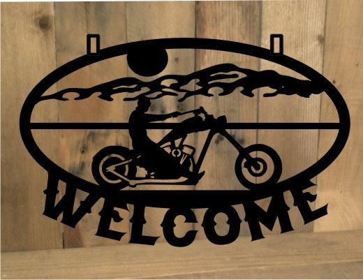Metal Cut Out Motorcycle Custom Personalized Chopper