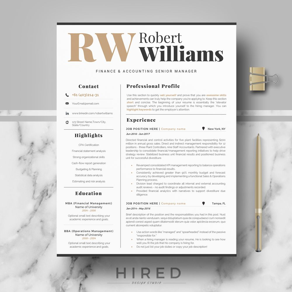 Modern Professional Resume Template For Word Or Mac Pages Modern Cv Design Editable Modern Resume Cv Professional Cv Curriculum Vitae Resume Design Cover Letter For Resume Professional Resume