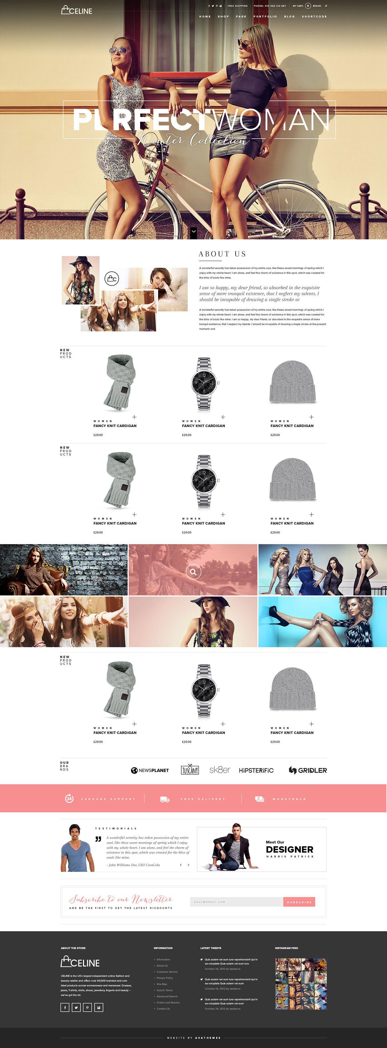 Celine - Responsive Shopping WordPress Theme