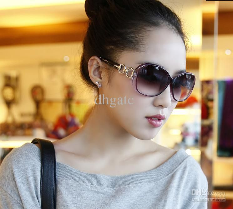 shades for women  Fashion Large Frame Sunglasses Women Eyewear Lady Glasses ...