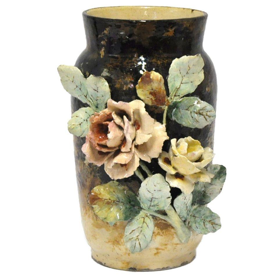 19th century barbotine majolica vase decorative objects modern 19th century barbotine majolica vase reviewsmspy
