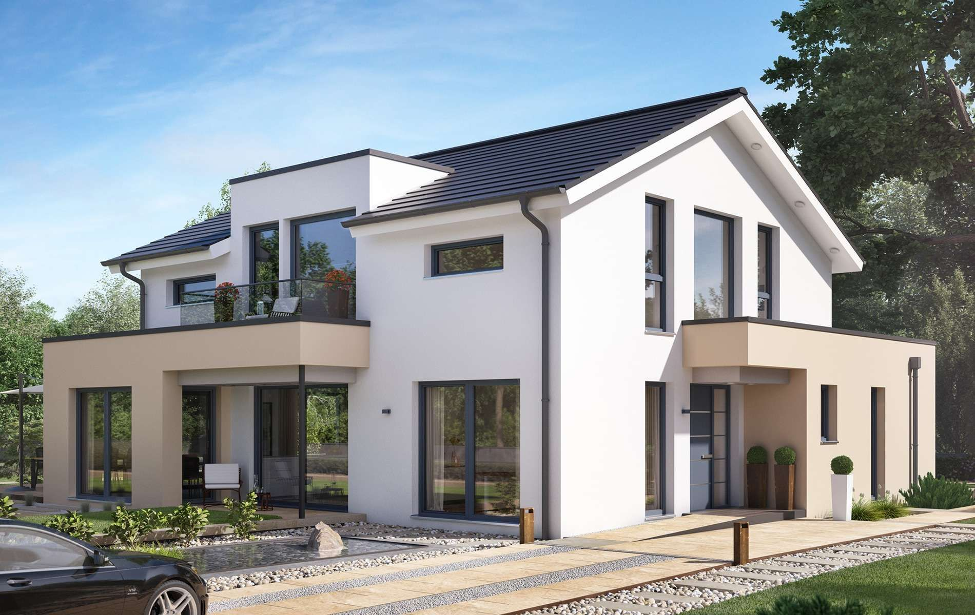 Housedesign Bien Zenker Concept M 155 Leipzig In 2020 House With Balcony House Styles House