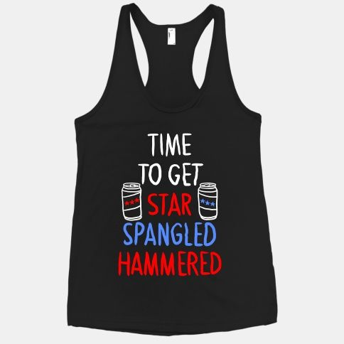 Time To Get Star Spangled Hammered 4th of July Drinking Juniors V-neck T-shirt