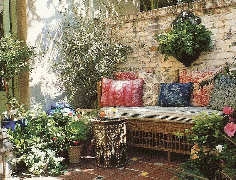 Wicker seating area with lots of pillows | Outdoor decor ... on My Garden Outdoor Living id=58297