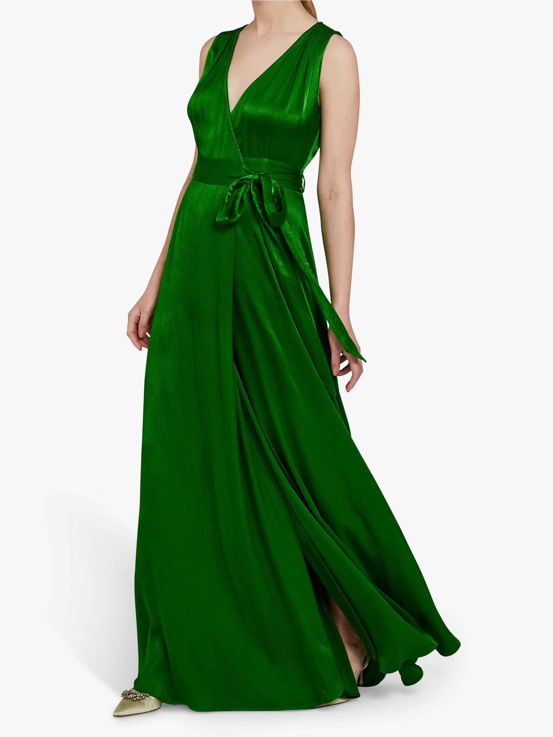 Ghost Lola Satin Wrap Maxi Dress | Maxi wrap dress, Dresses