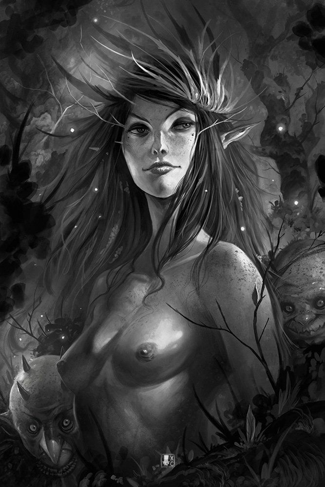Dark Faeries Wood 2, Xavier Collette on ArtStation at https://www.artstation.com/artwork/dark-faeries-wood-2