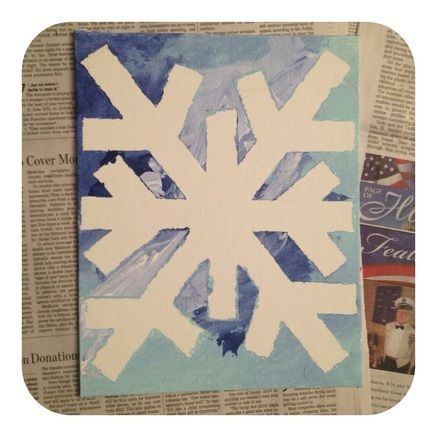 25 Days Of Christmas. Create A Fun And Original Work Of Art With The Kids!  Paint A Canvas Painting Using Painters Tape.