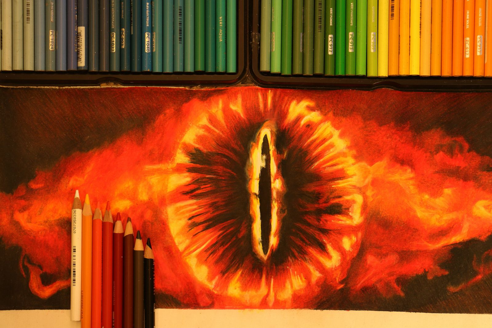 Eye Of Sauron Drawing Lord Of The Rings Geek Art Colorful Drawings Geeky Art