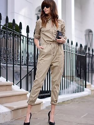 4045acd7c4d H m trend 2015 beige twill jumpsuit all sizes available