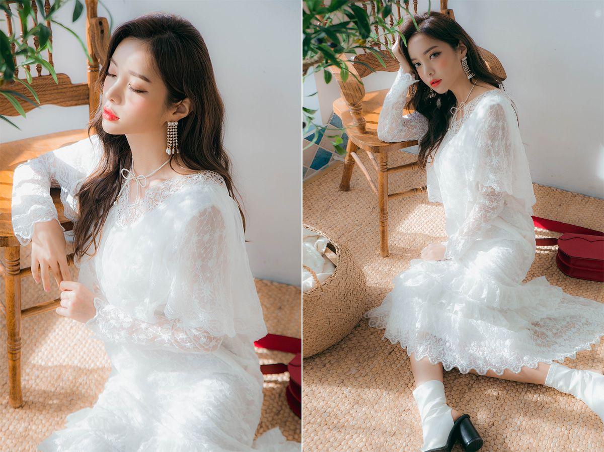 Lace dress cover up  Cape Cover Up VNeck Lace Dress CHLODMANON  Shop feminine