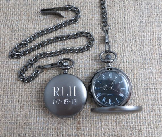 00bc45a206a8e Personalized Pocket Watch Monogrammed Gifts by tiposcreations ...