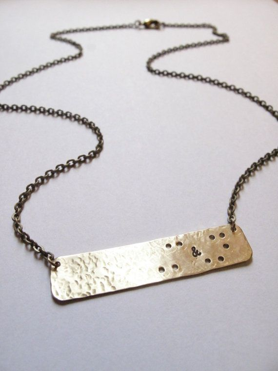 Custom Braille Initials Necklace // Braille-Inspired by FierceDeer