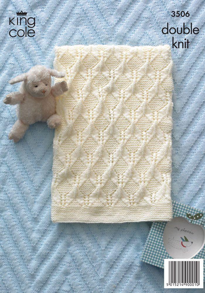 Baby Blankets in King Cole DK - 3506 | Manta, Mantas de bebes y Bebé