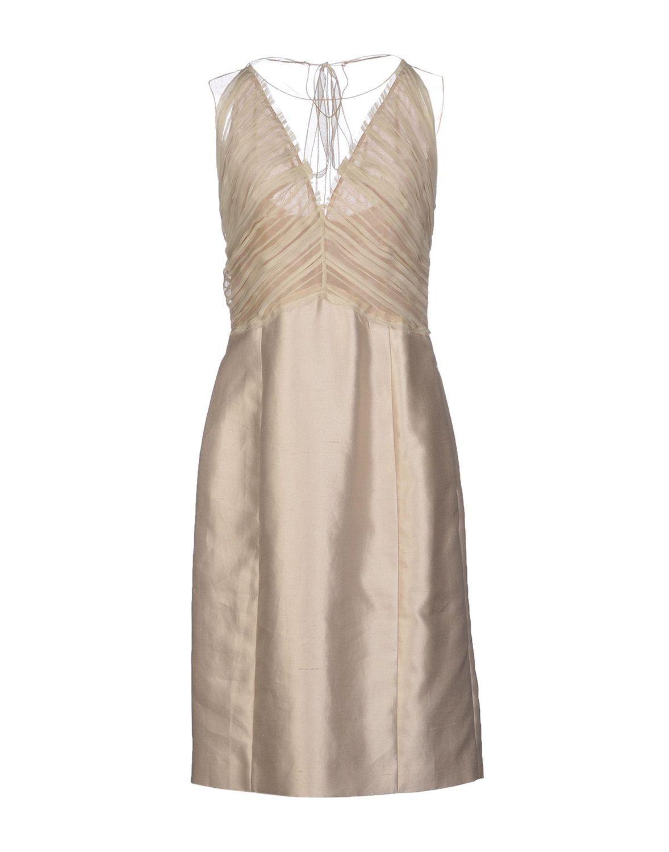 NWT Beige Alberta Ferreti Silk Shantung Evening Dress w/Zip Side Closure by MichelesPassion on Etsy